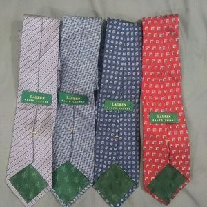 LAUREN RALPH LAUREN (LOT OF 4 TIES)